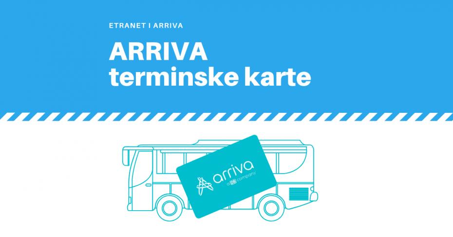 Beskontaktne terminske karte za ticketing rješenje sustava prijevoznika ARRIVA